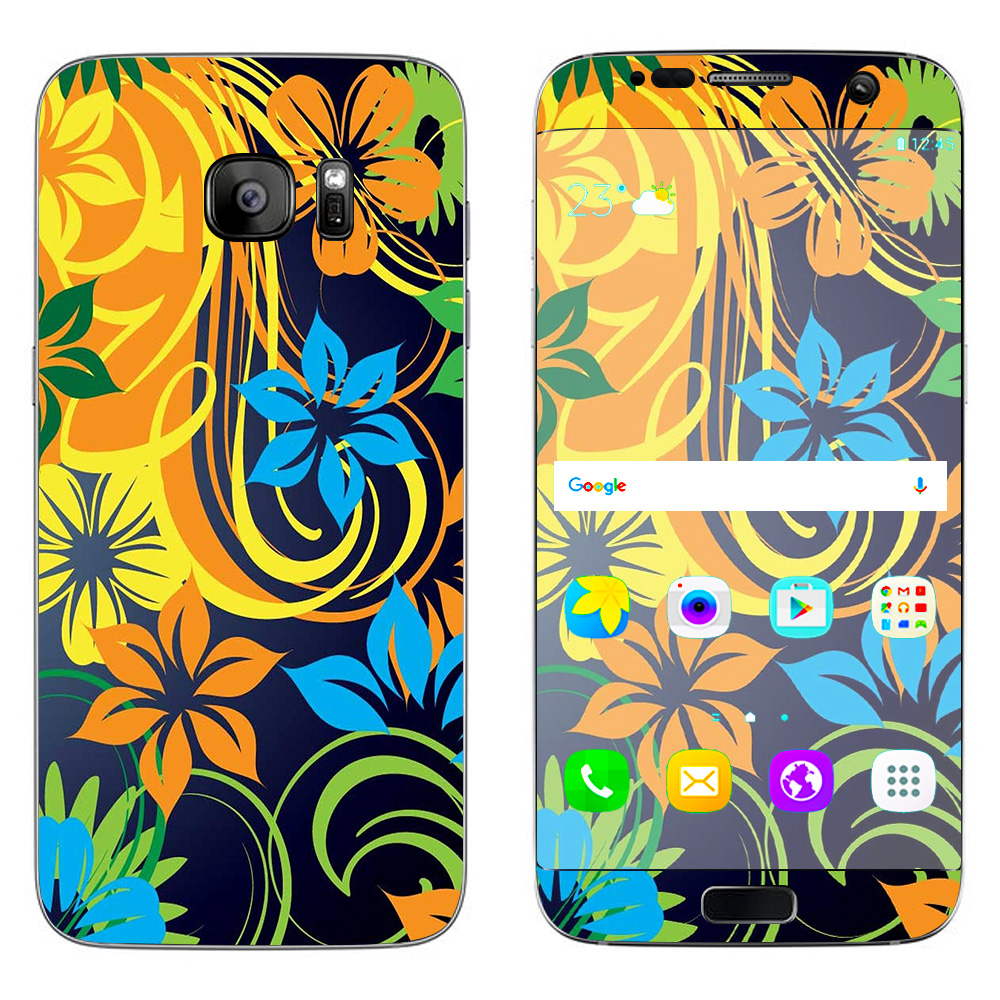 Skins Decals For Samsung Galaxy S7 Edge / Tropical Flowers