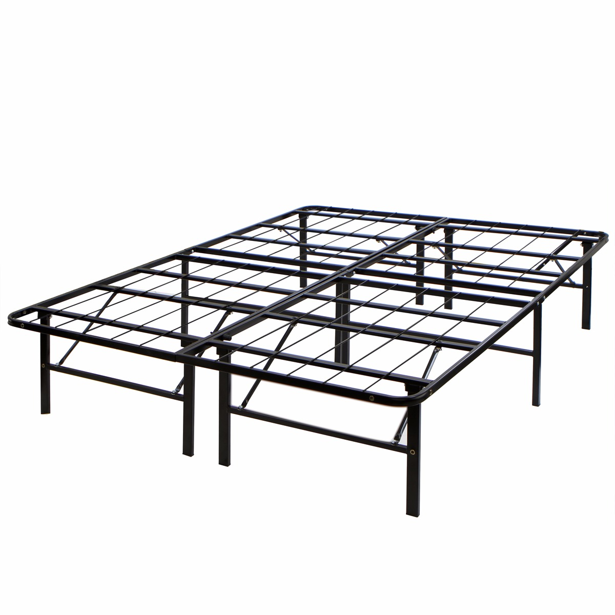 Modern Metal Bed Frames xtremepowerus modern metal folding bed frame platform, full size