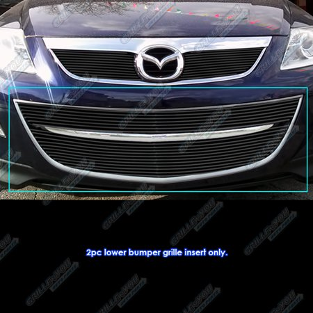 Fits 2010-2013 Mazda CX-9 Black Bumper Billet Grille Grill Insert