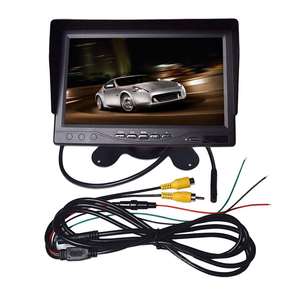 "Portable 7"" LCD Digital Color Screen Monitor for Car Rear View with Sunvisor"
