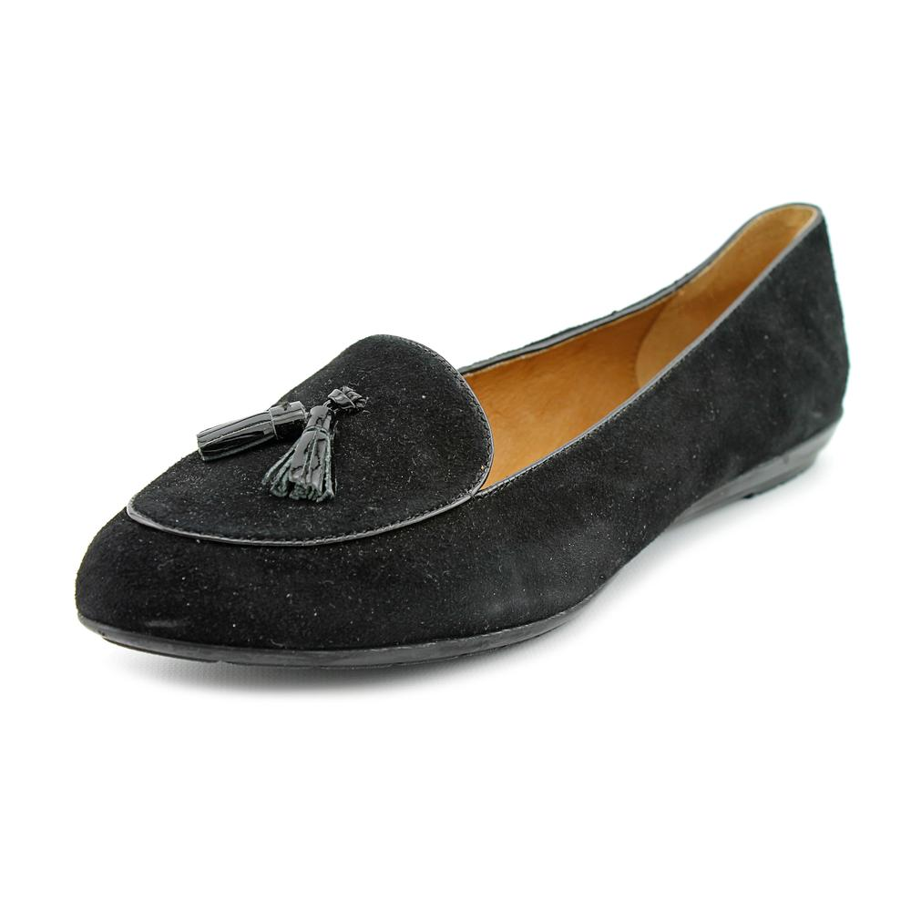 Sofft Bryce Women Apron Toe Suede Black Loafer by Sofft