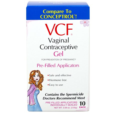 VCF Vaginal Contraceptive Pre-Filled Gel Applicators - 10 (Best Birth Control Pill 2019)
