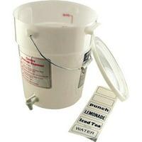 Cambro DSPR6148 White 6 Gal Beverage Dispenser