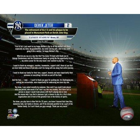 - Derek Jeter Jersey Retirement Speech Overlay Photo Print