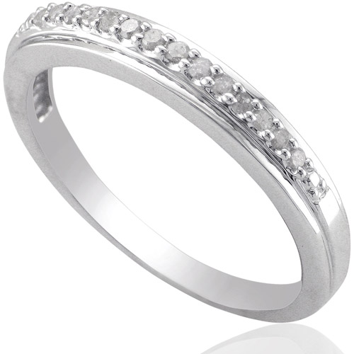 Forever Bride Diamond Accent Sterling Silver Wedding Band