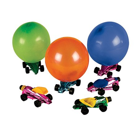 Fun Express - Car Balloon Racers - Toys - Vehicles - Cars & Boats & Racers - 12 Pieces (Speed Boat Racers)