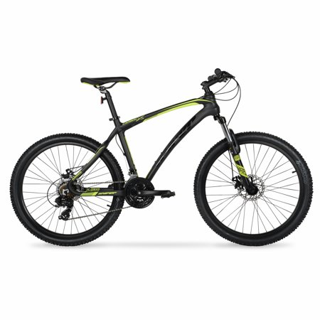 Hyper 26u0022 Carbon Fiber Mens Mountain Bike, Black/Green