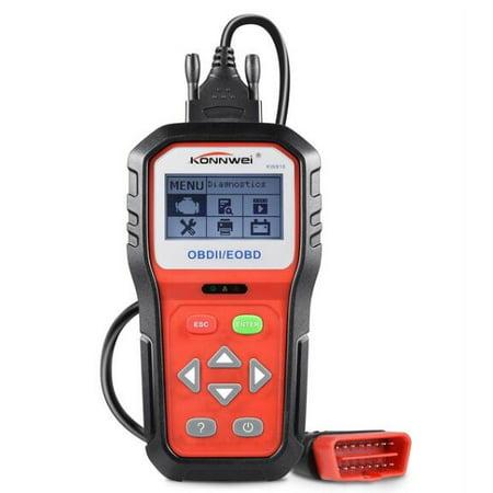 KONNWEI KW818 OBD II Scanner Car Engine Fault Code Reader CAN Diagnostic Scan Tool,Red