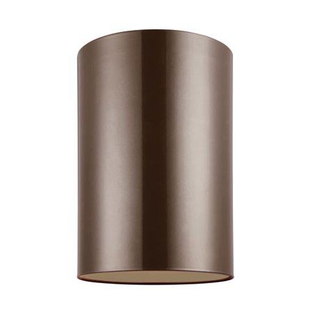 Outdoor Cylinders Bronze Energy Star Six-Inch LED Outdoor Ceiling Flush Mount