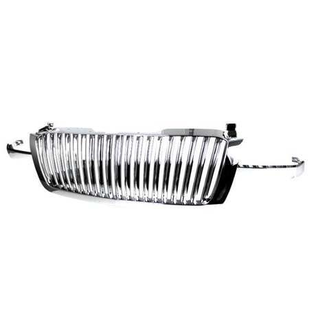 Spec D Tuning HG-SIV03CVT-RS Vertical Grille for 2003-2005 Chevrolet Silverado - Chrome - image 1 of 1