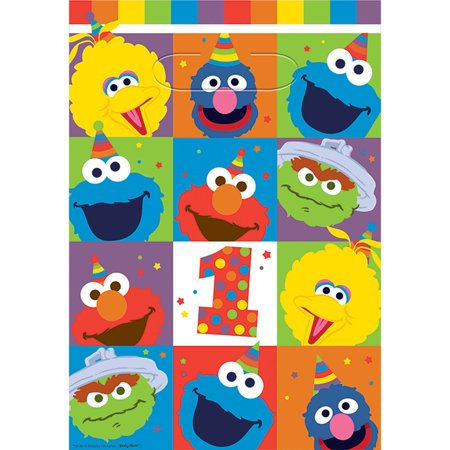 Elmo Turns One Loot Bags - Elmo Party Bags