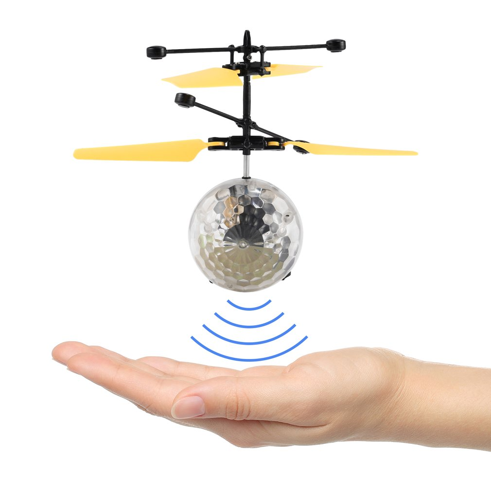 Suspension Helicopter RC Flying Crystal Ball With LED Lighting Infrared Induction Helicopter Ball