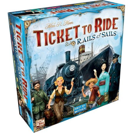 Ticket to Ride: Rails & Sails Strategy Board Game (Halloween Games Ghost Train Ride)