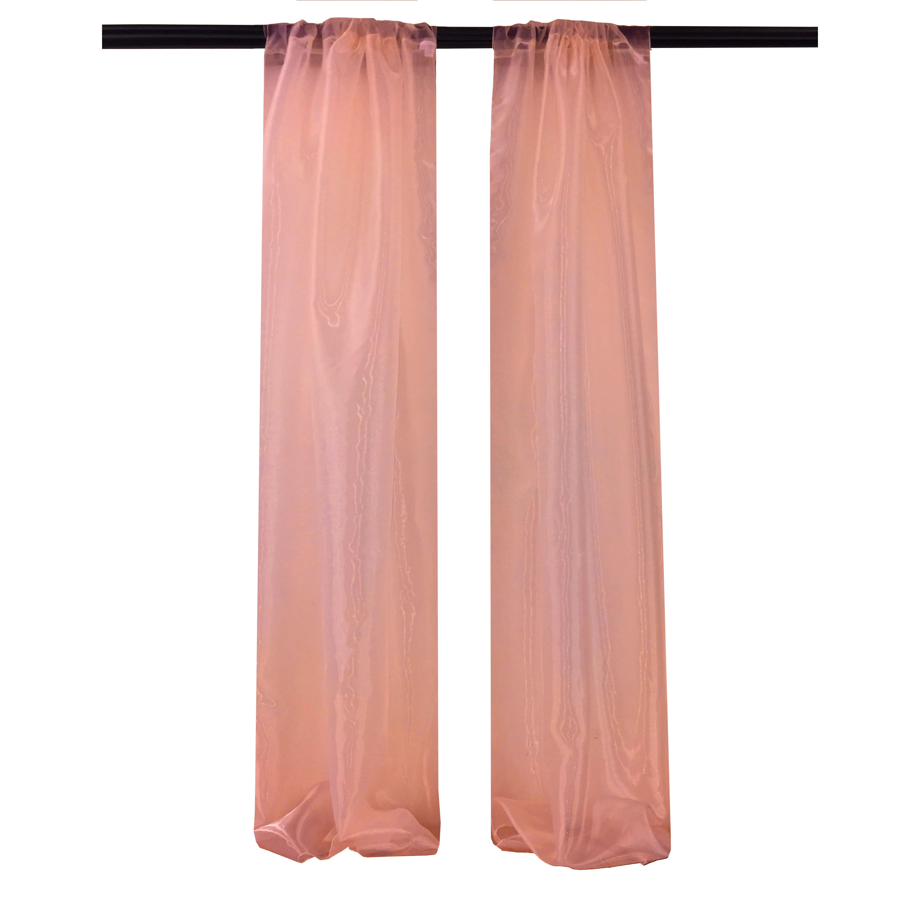 Mirror organza Sheer Coral Curtain Drape Panel BackDrop  Made in the USA  party decor