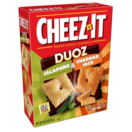 Cheez-It Duoz Baked Jalapeno & Cheddar Jack Snack Crackers, 12.4 -