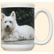Westie On Porch Mug by Fiddler's Elbow