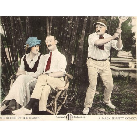 She Sighed By The Seaside L-R Marie Prevost Ben Turpin Heinie Conklin On Lobbycard 1921 Movie Poster Masterprint