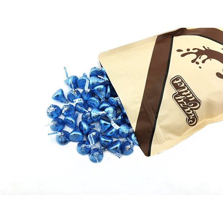 CrazyOutlet Hershey's Kisses Milk Chocolate Blue Wrapping, 2 Pounds - Blue Wrapper Chocolate