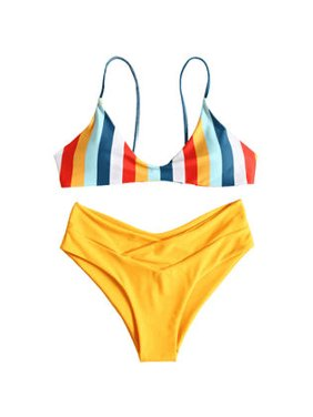 cae601accbd Product Image Women Striped Top Small Pantey Sexy Bikini Set