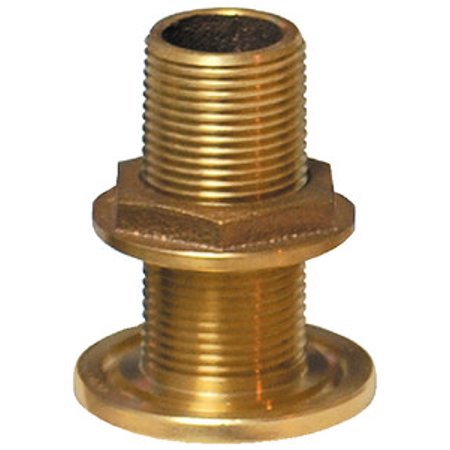 Groco Bronze Thru Hull Fitting with BSPP Thread