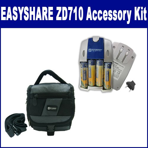 Kodak EASYSHARE ZD710 Digital Camera Accessory Kit includes: SB257 Charger, SDC-27 Case
