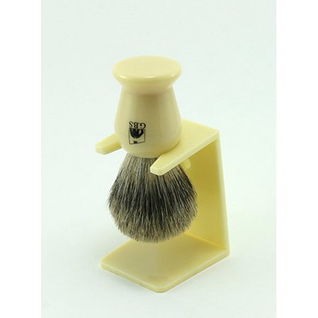 Pure Badger Faux Ivory Shaving Brush with Free Stand From