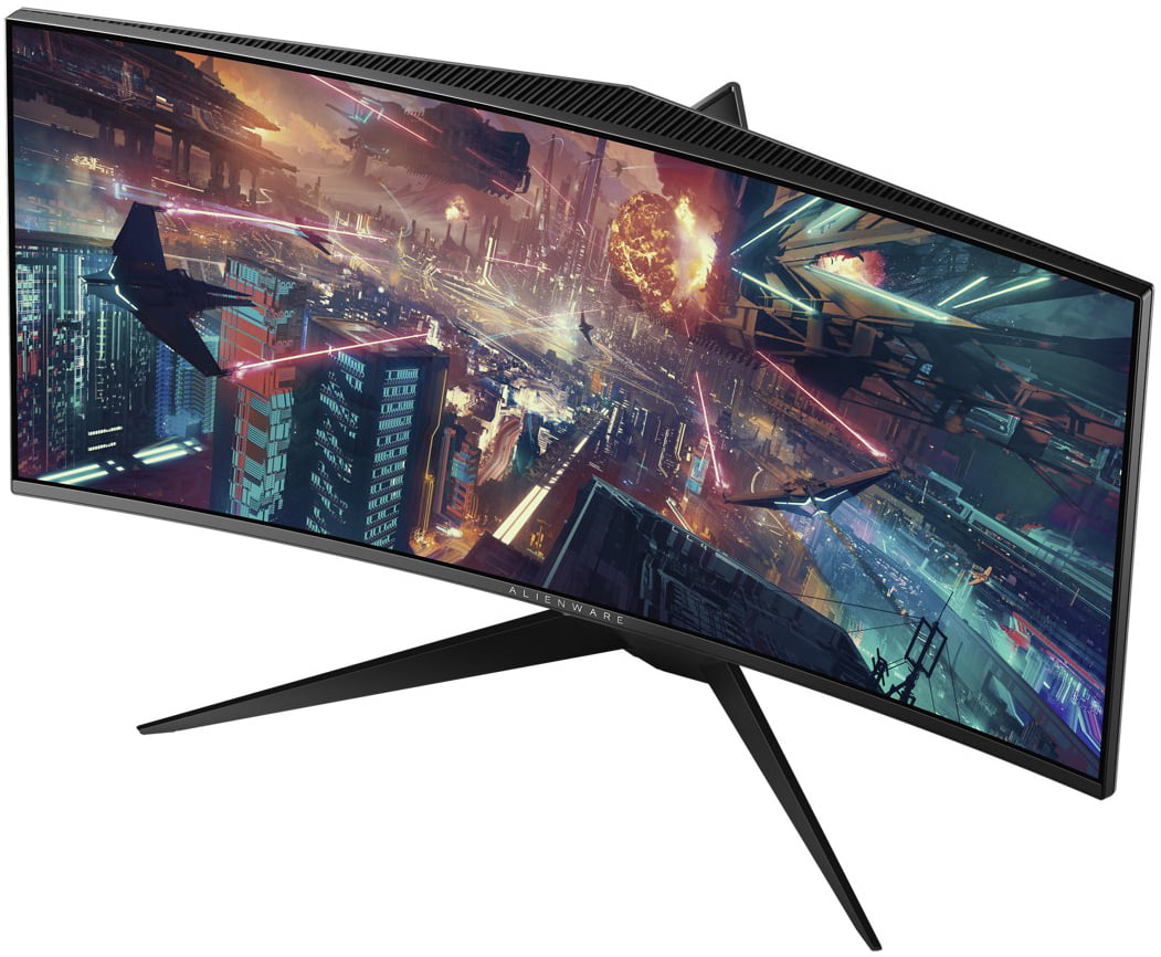 """Dell Alienware 34"""" Curved Gaming Monitor Silver- 100Hz refresh rate- 3440 x 1440 WQHD resolution- NVIDIA G-sync- 1900R Curved Display"""