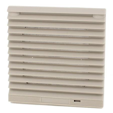 116mm x 116mm Gray Plastic Cabinet Washable Axial Flow Fan Foam Dust (Axial Flow Fan Blade)