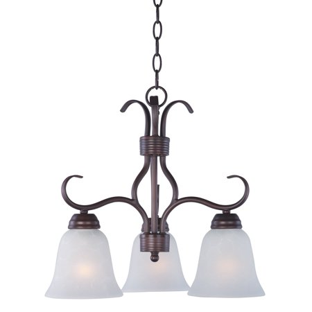Maxim 10122ICOI Basix 3-Light Downlight Chandelier - 19W in. - Oil Rubbed Bronze