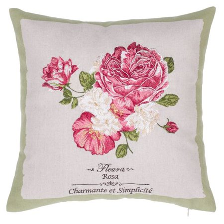 14 Karat Home Inc. Rose Embroidered Throw - Embroidered Roses