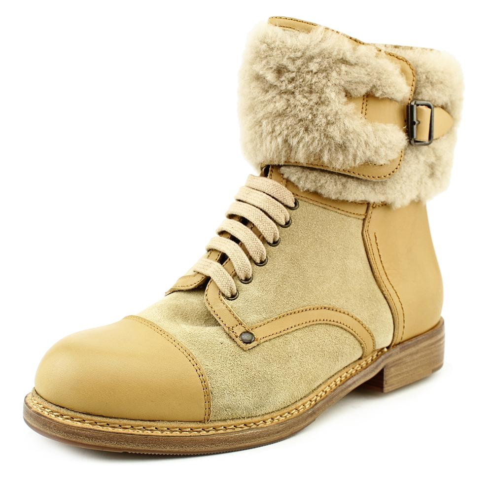 See By Chloe SB21170 Women  Round Toe Leather  Mid Calf Boot