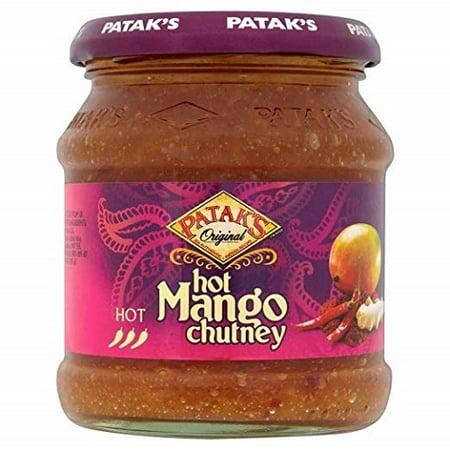 Patak's Hot Chutney, Mango, 12 Ounce Fresh Mango Chutney