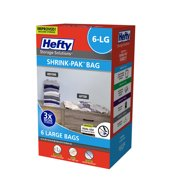 Hefty SHRINK-PAK 6 Large Vacuum Storage Bags