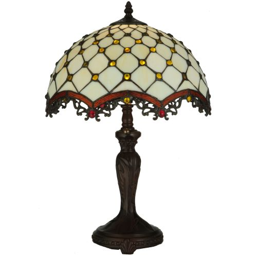 """Meyda Tiffany 130761 Diamond & Jewel 1 Light 20"""" Tall Hand-Crafted Table Lamp with Stained Glass by Meyda Tiffany"""