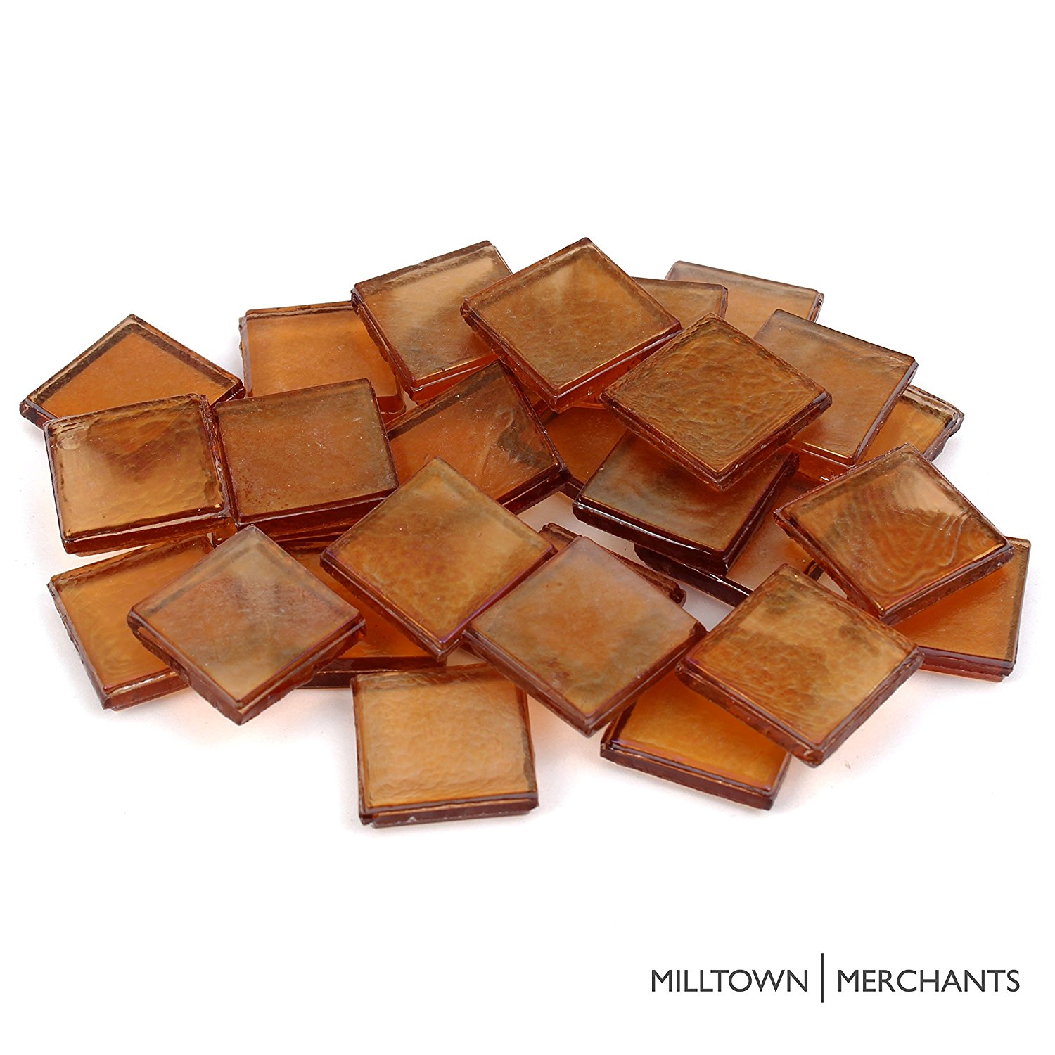 "Milltown Merchants 7/8"" (22mm) Iridescent Premium Glass Mosaic Tiles - Bulk Assortment of Mosaic Tiles"