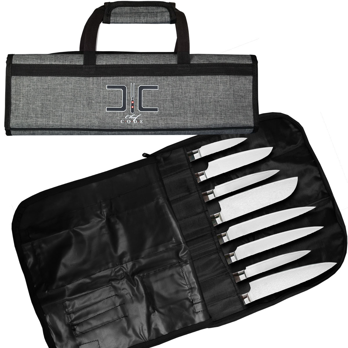 CHEF CODE Chef Knife Bag, Roll Bag for Kitchen Knife Storage