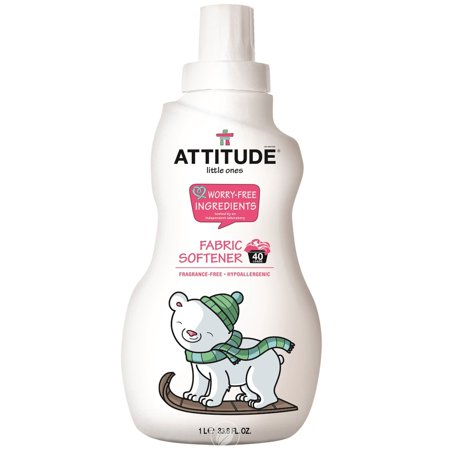 Attitude Little Ones Fabric Softener for Baby 40 Loads Fragrance Free 33.8 Ounce, Pack of