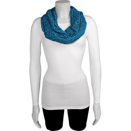 Aqua Blue Stripe Infinity Fashion Scarf (68x20mm) - image 1 of 2