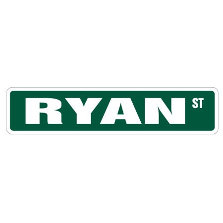 - RYAN Street Sign Childrens Name Room Sign | Indoor/Outdoor |  24