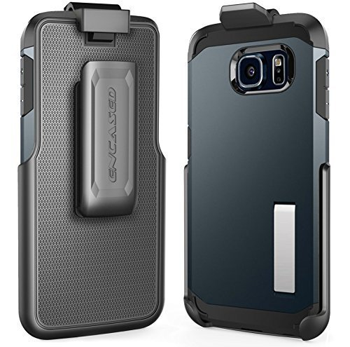 Belt Clip Holster for Spigen Tough Armor Case - Galaxy S6 Edge (By Encased) (case is not included)