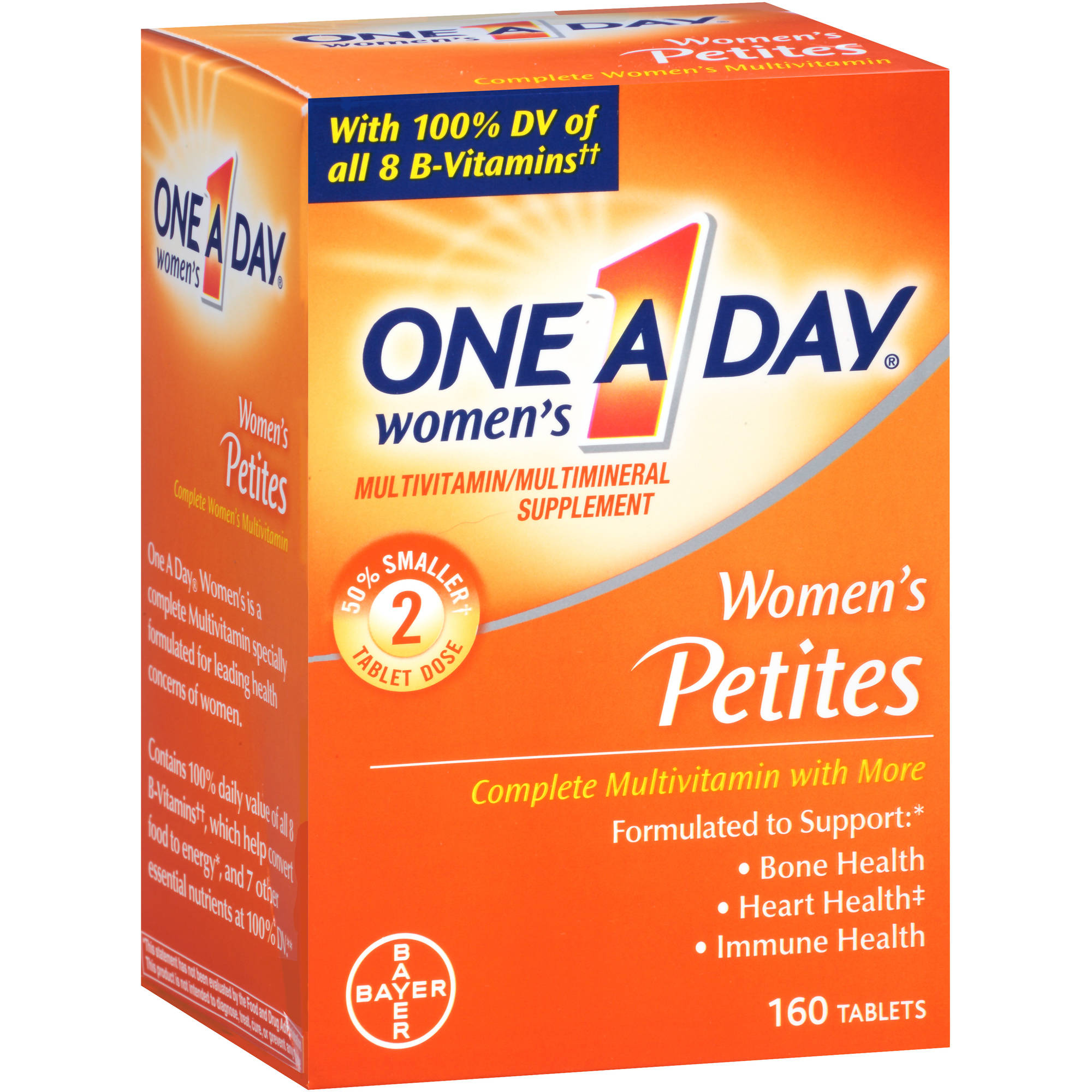 One A Day Women's Petites Multivitamin/Multimineral Supplement, 160 count