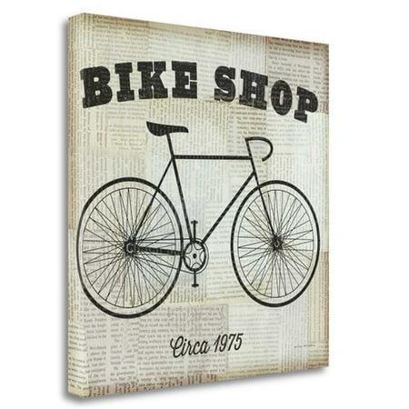 Tangletown Fine Art Bike Shop Vintage Advertisement On Wrapped Canvas