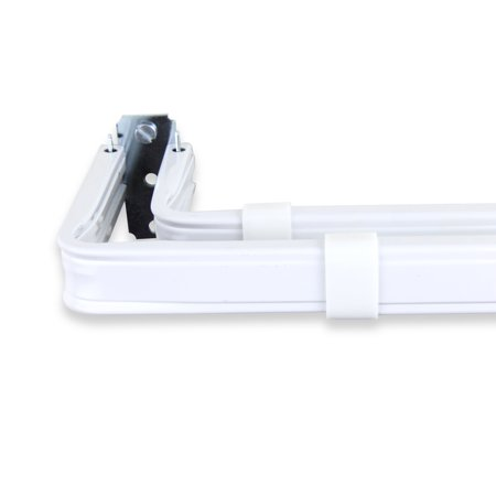 Double Lockseam Curtain Rod 84-120 inch