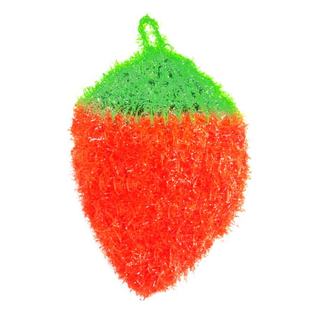 Bright Colors Strawberry Shape Rag Hand Crocheted Dish Cloth Scouring Pad Towel Kitchen Cleaning Tool