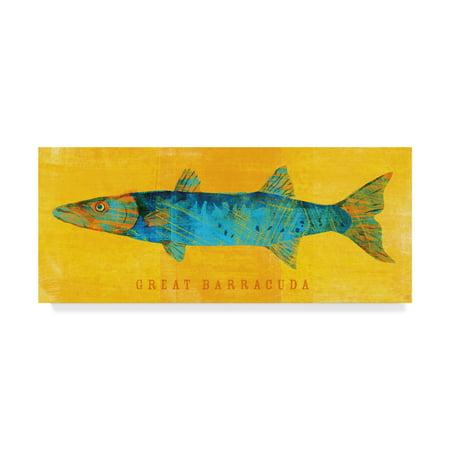 Barracuda Floor - Trademark Fine Art 'Great Barracuda' Canvas Art by John W. Golden