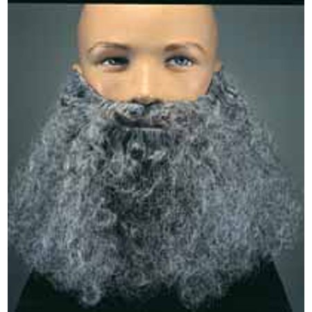 Character Curly Beard with attached Mustache Assorted Colors R2046 - Gray - Beard And Mustache Costume