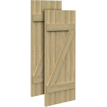 18 W x 118 H x 1 1 2 D 3 Boards w Z Batten Rough Sawn Cedar Faux Wood