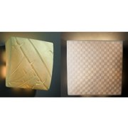 Justice Design Group  1-light Square Translucent Porcelain Wall Sconce