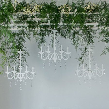 White Chandelier Silhouette Wall Decoration - Chandelier Decoration