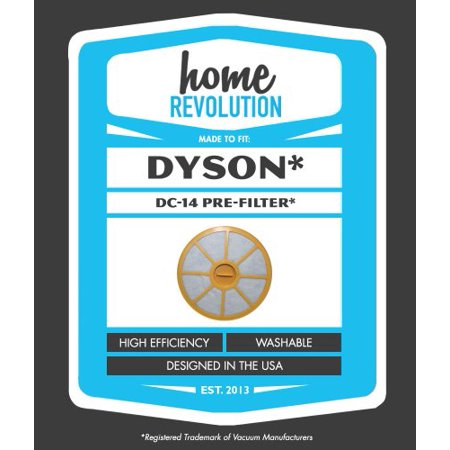 Dyson DC14 Home Revolution Brand Replacement Washable and Reusable Pre Filter; Made To Fit All Dyson DC14 DC-14 Upright Vacuum Models; Compare to Dyso (Revolution Replacement)